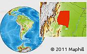 Physical Location Map of Santiago del Estero