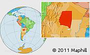 Political Location Map of Santiago del Estero