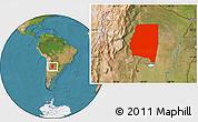 Satellite Location Map of Santiago del Estero