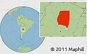 Savanna Style Location Map of Santiago del Estero