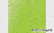 Physical Map of Loreto