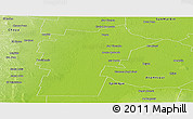 Physical Panoramic Map of Loreto