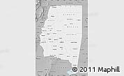 Gray Map of Santiago del Estero