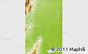 Physical Map of Santiago del Estero