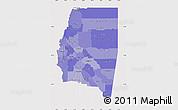 Political Shades Map of Santiago del Estero, cropped outside