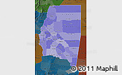 Political Shades Map of Santiago del Estero, darken