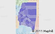 Political Shades Map of Santiago del Estero, lighten
