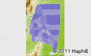 Political Shades Map of Santiago del Estero, physical outside