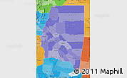Political Shades Map of Santiago del Estero