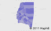 Political Shades Map of Santiago del Estero, single color outside
