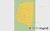 Savanna Style Map of Santiago del Estero, single color outside