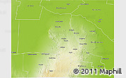 Physical 3D Map of Ojo de Agua