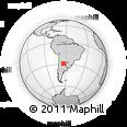 Outline Map of Ojo De Agua