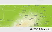 Physical Panoramic Map of Ojo de Agua