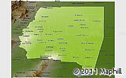 Physical Panoramic Map of Santiago del Estero, darken