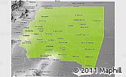 Physical Panoramic Map of Santiago del Estero, desaturated