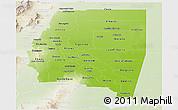 Physical Panoramic Map of Santiago del Estero, lighten