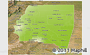 Physical Panoramic Map of Santiago del Estero, satellite outside