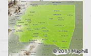 Physical Panoramic Map of Santiago del Estero, semi-desaturated