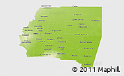 Physical Panoramic Map of Santiago del Estero, single color outside