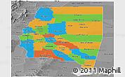 Political Panoramic Map of Santiago del Estero, desaturated