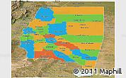Political Panoramic Map of Santiago del Estero, satellite outside