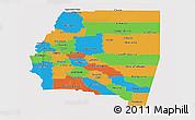 Political Panoramic Map of Santiago del Estero, single color outside