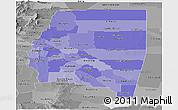 Political Shades Panoramic Map of Santiago del Estero, desaturated