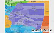 Political Shades Panoramic Map of Santiago del Estero