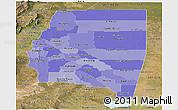 Political Shades Panoramic Map of Santiago del Estero, satellite outside