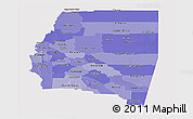Political Shades Panoramic Map of Santiago del Estero, single color outside