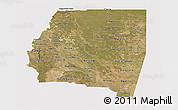 Satellite Panoramic Map of Santiago del Estero, cropped outside
