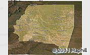 Satellite Panoramic Map of Santiago del Estero, darken