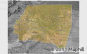 Satellite Panoramic Map of Santiago del Estero, desaturated