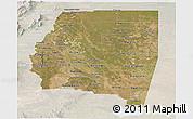 Satellite Panoramic Map of Santiago del Estero, lighten
