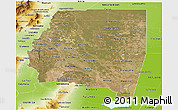 Satellite Panoramic Map of Santiago del Estero, physical outside