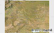 Satellite Panoramic Map of Santiago del Estero