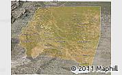 Satellite Panoramic Map of Santiago del Estero, semi-desaturated