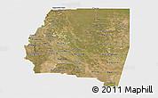Satellite Panoramic Map of Santiago del Estero, single color outside
