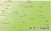 Physical Panoramic Map of Pellegrini