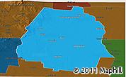 Political Panoramic Map of Pellegrini, darken