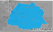 Political Panoramic Map of Pellegrini, desaturated
