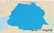 Political Panoramic Map of Pellegrini, lighten