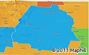 Political Panoramic Map of Pellegrini