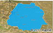 Political Panoramic Map of Pellegrini, satellite outside