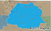 Political Panoramic Map of Pellegrini, semi-desaturated