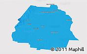 Political Panoramic Map of Pellegrini, single color outside
