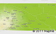 Physical Panoramic Map of Quebrachos