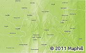 Physical 3D Map of Rio Hondo