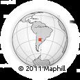 Outline Map of Rivadavia
